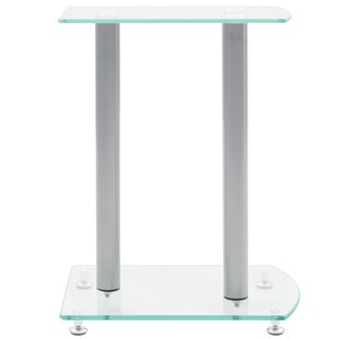 Transparent 18 Fixed Height Speaker Stand Set of 2