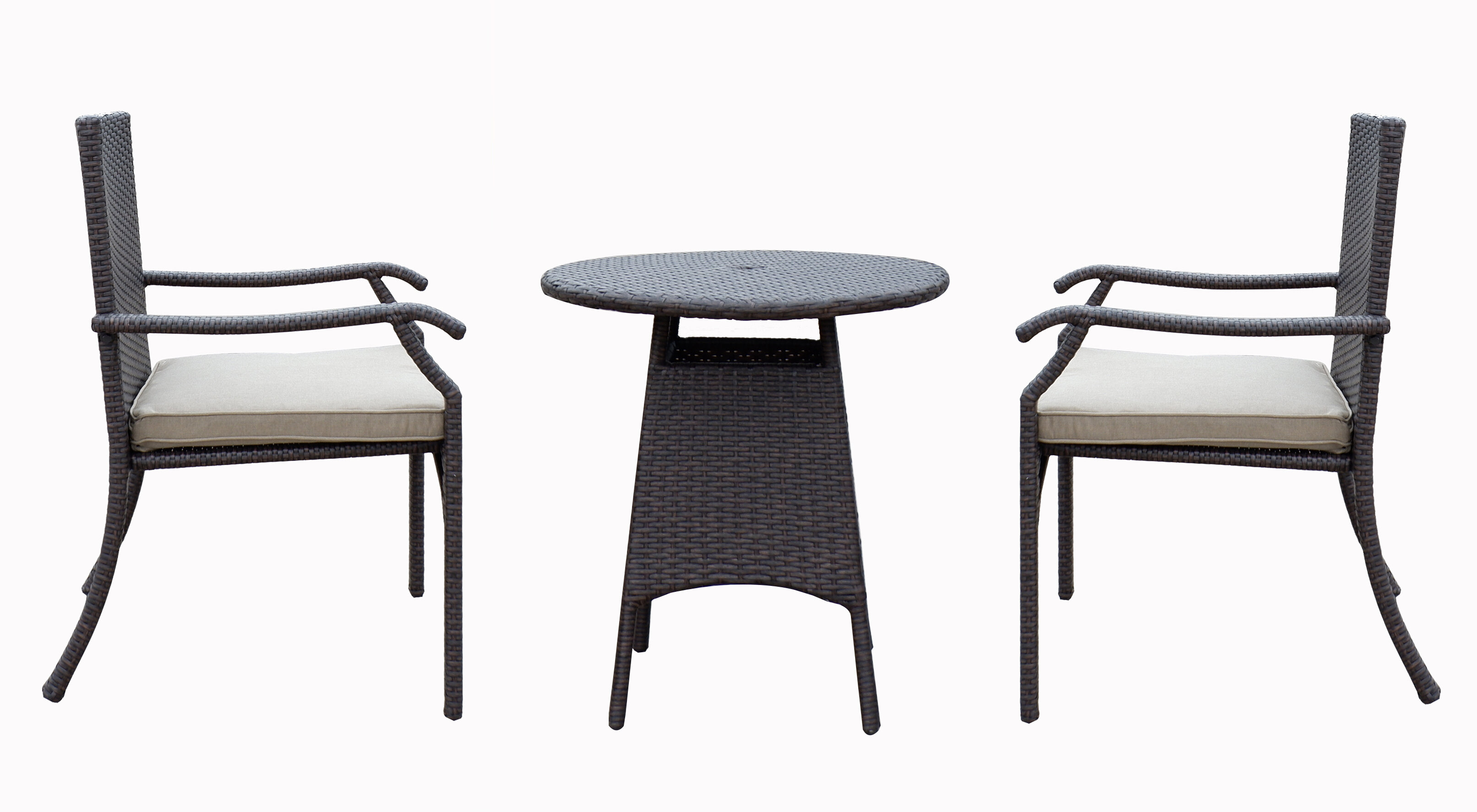Cushioned Wicker Patio Bistro Sets You Ll Love In 2021 Wayfair