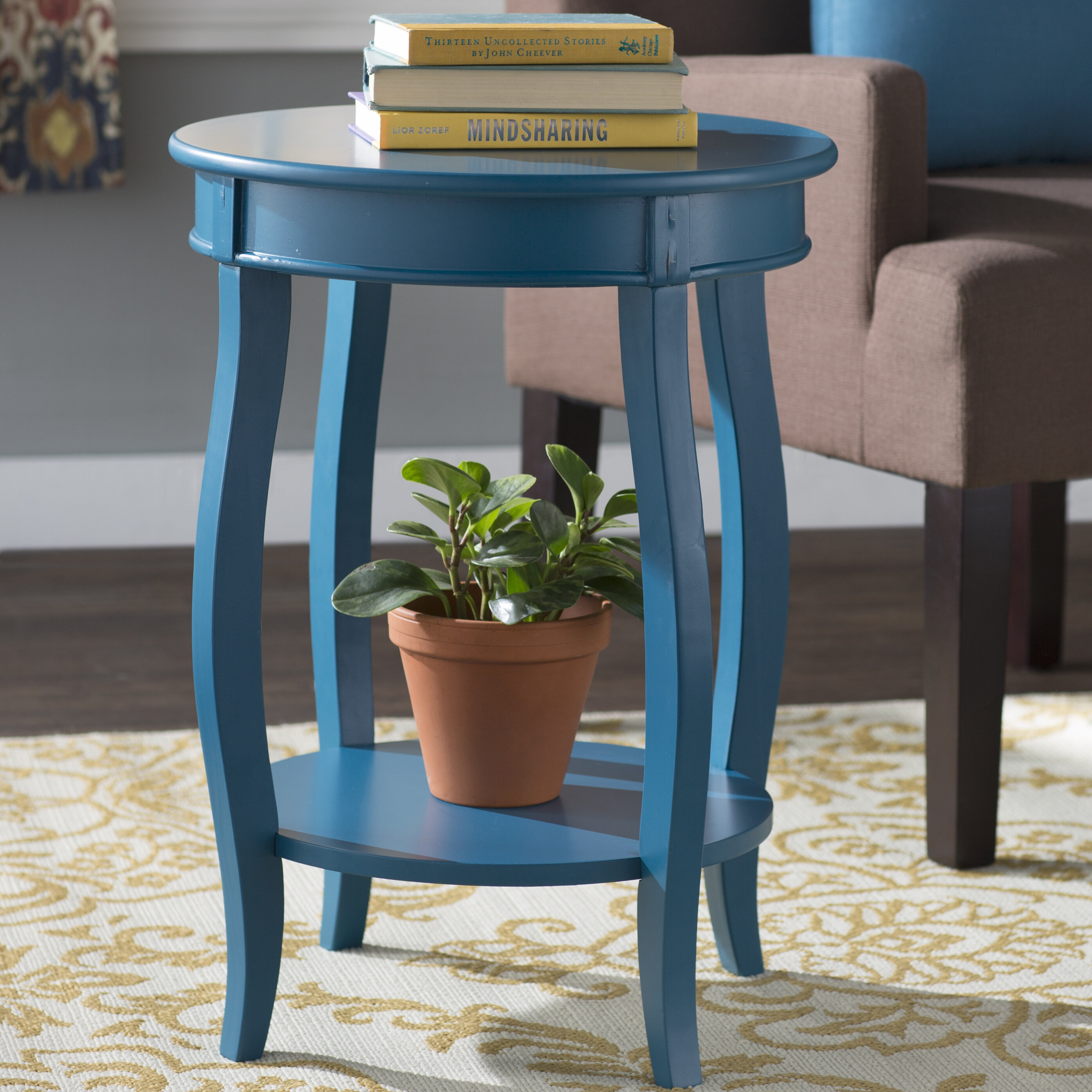 Andover Mills Callan End Table With Storage Reviews Wayfair