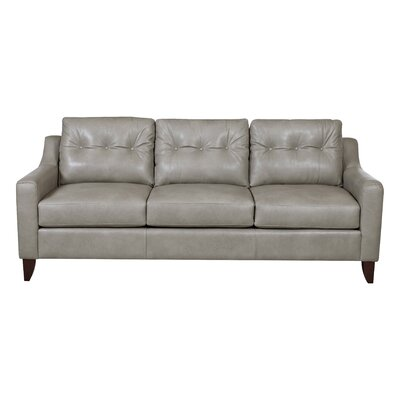 Trent Austin Design Levell Leather Sofa Upholstery Color Grey