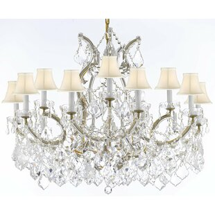 Alvarado 16-Light Crystal Chandelier by A..