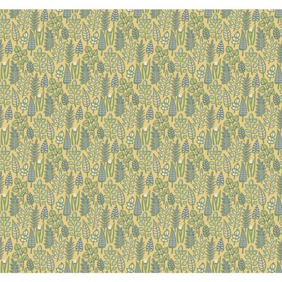 Leaf Life Wallpaper York Wallcoverings Color: Yellow