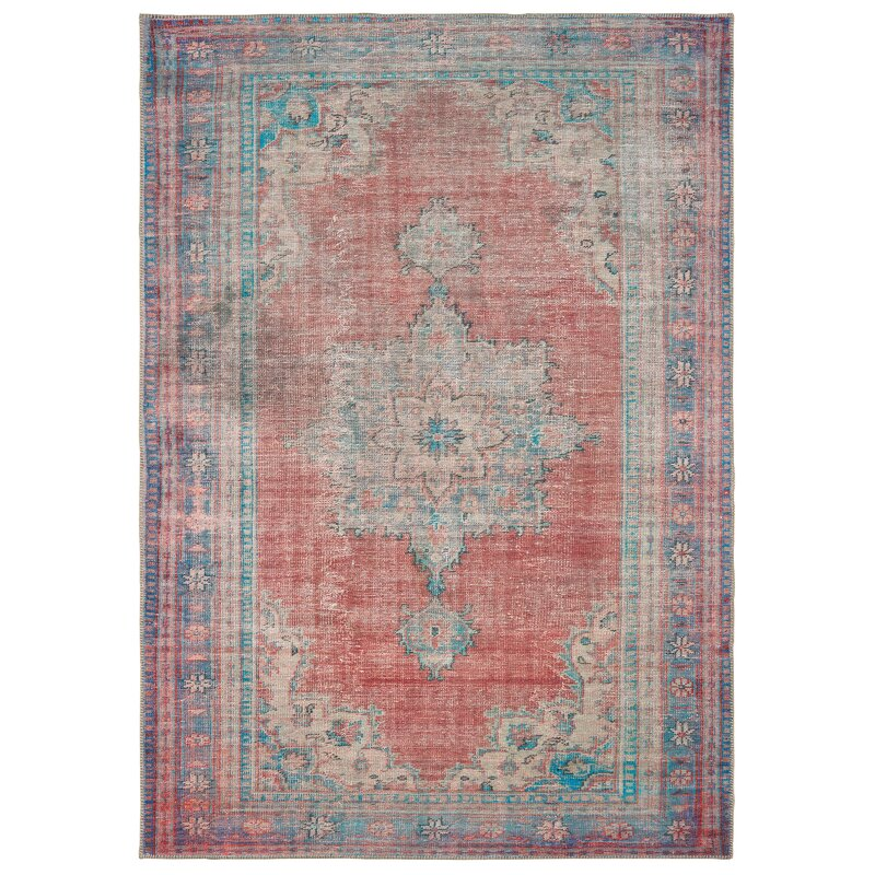 Solo Rugs Belen Red Blue Rug Perigold