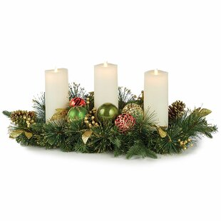 Highland Holiday Candle Centerpiece