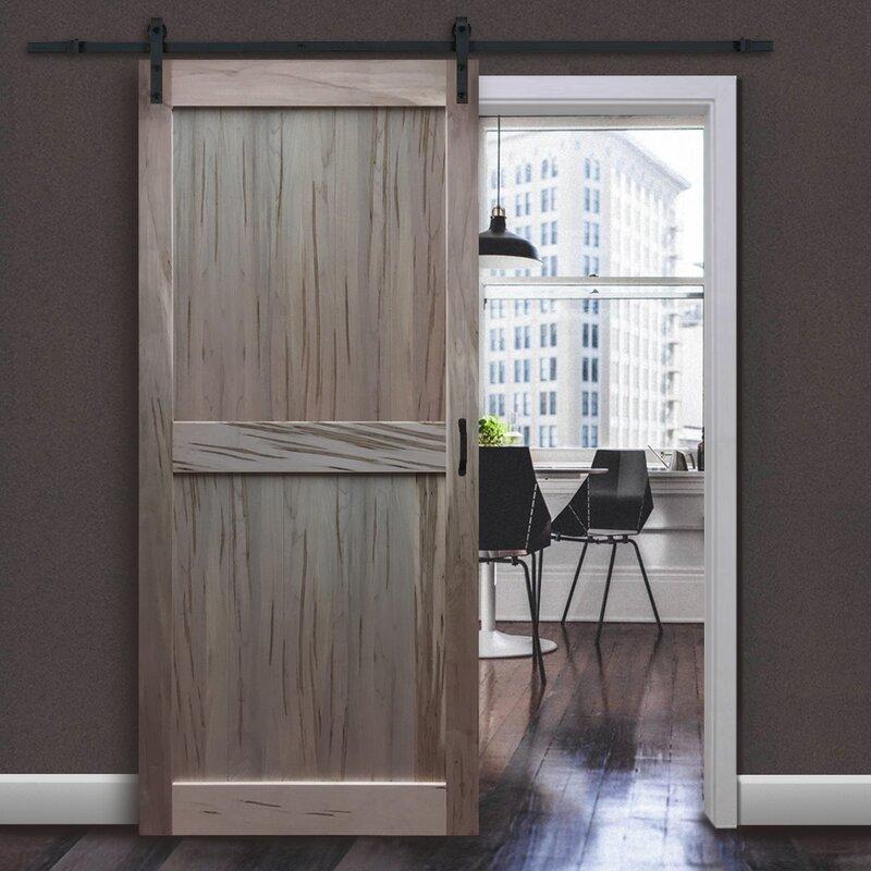 Kiby Solid Flush Wood Interior Barn Door Reviews Wayfair