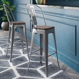 Delores Solid Wood Bar & Counter Stool by Williston Forge