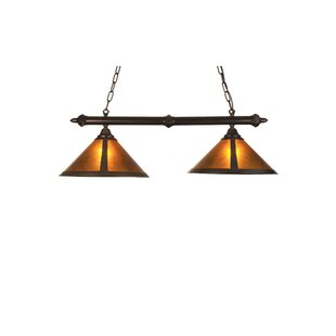 Meyda Tiffany Rustic Van Erp Amber Mica 2-Light Pool Table Light