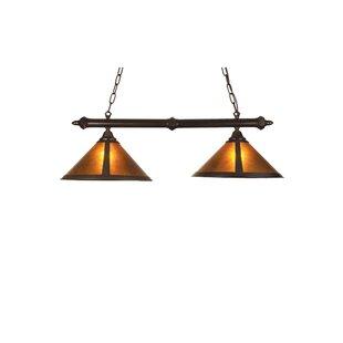 Meyda Tiffany Rustic Van Erp Amber Mica 2-Light Pool Table Light