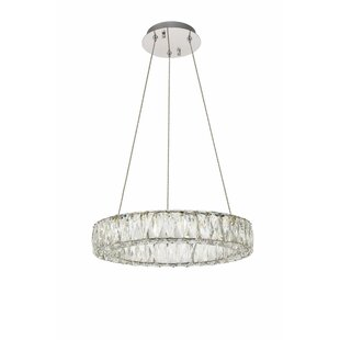 Everly Quinn Anessa LED Crystal Chandelier