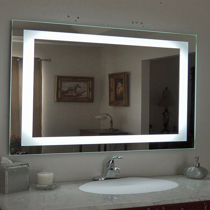 Orren Ellis Dilsey Lighted Bathroom Vanity Mirror Wayfair