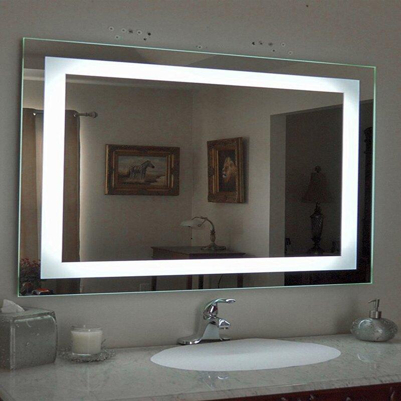 Ivy Bronx Isenhour Led Lighted Bathroom Mirror Reviews Wayfair