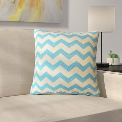 Shevlin Chevron Down Outdoor Synthetic Filled Throw Pillow by Latitude Run New