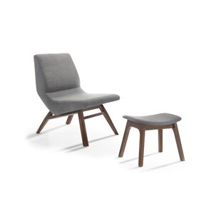 Dario Slipper Chair and Ottoman