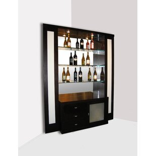 Elite Corner Back Bar with Wine Storage