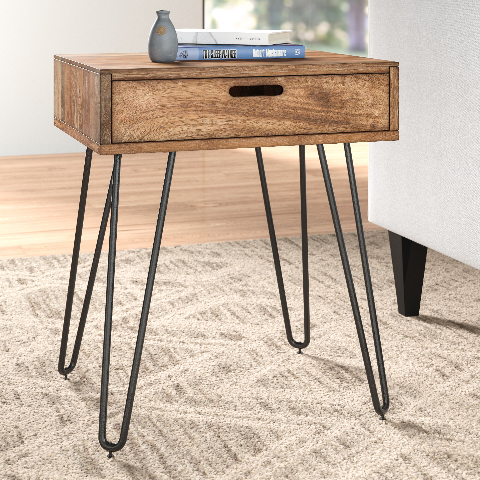 Faye End Table With Storage Reviews Allmodern
