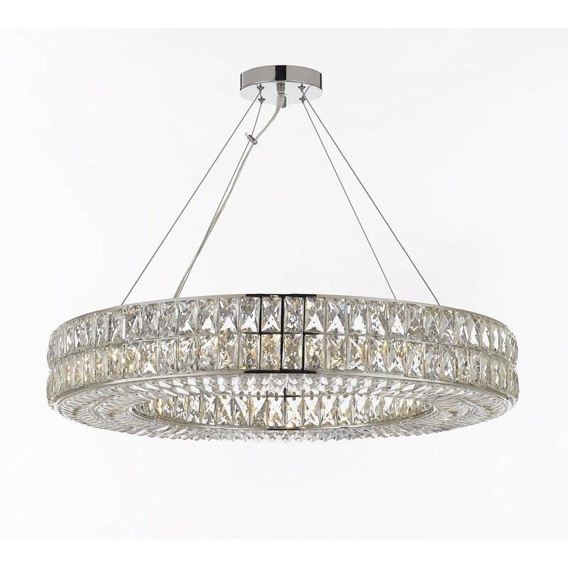 Orren ellis hubbert ring 16 light chandelier reviews wayfair hubbert ring 16 light chandelier aloadofball Images