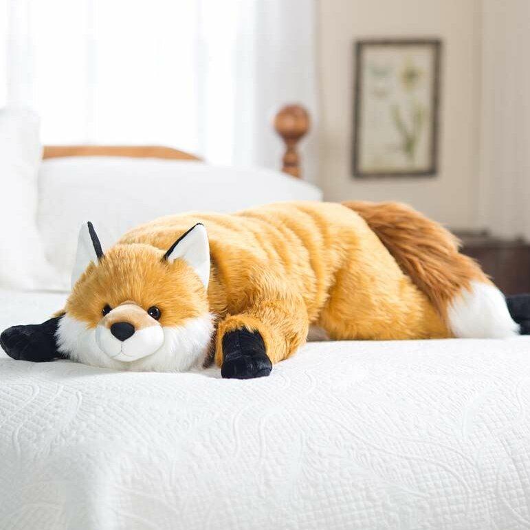Plow Hearth Fuzzy Fox Bed Backrest Pillow Reviews Wayfair