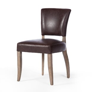 Clintonpark Genuine Leather Upholstered Dining Chair Ophelia & Co.