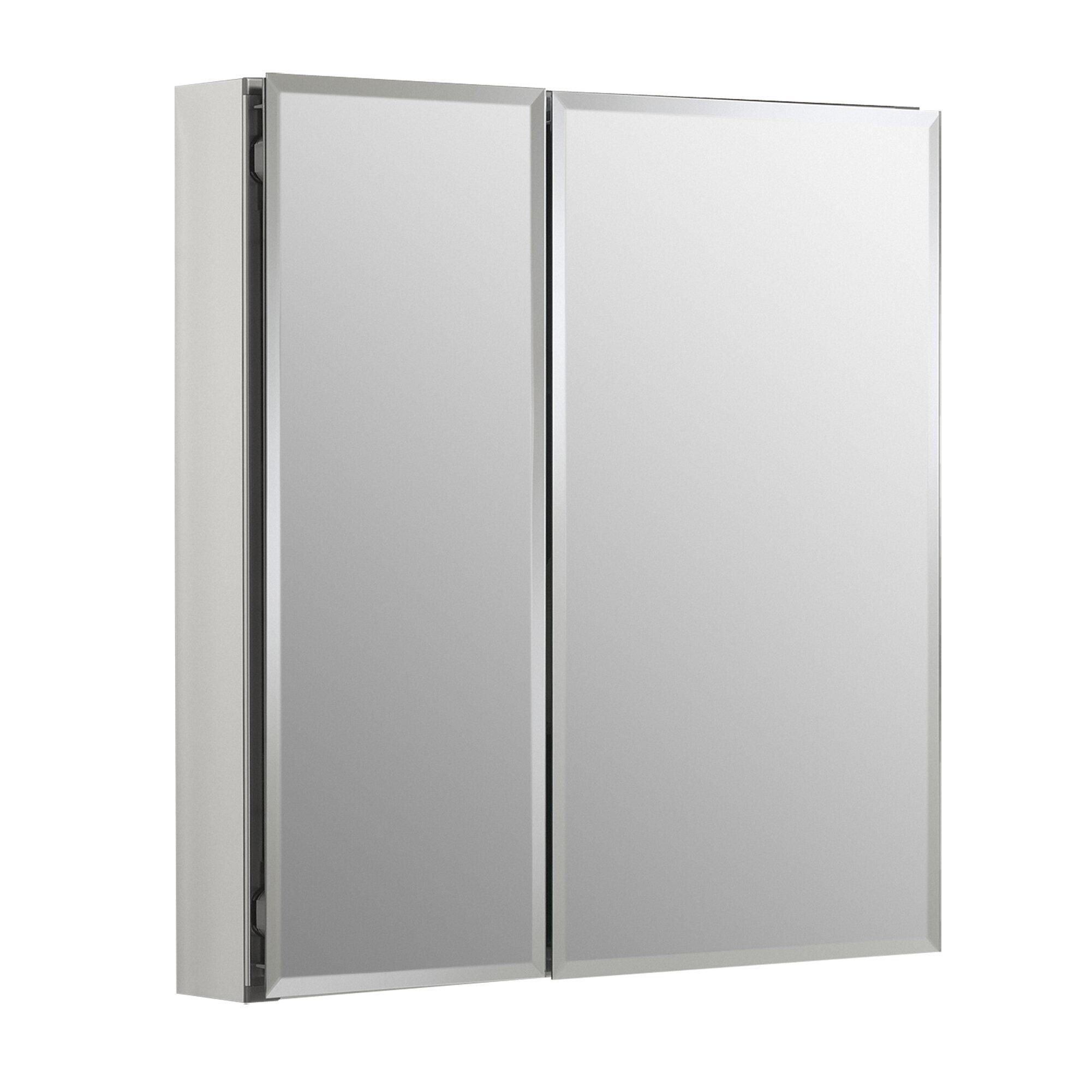 K Cb Clc2526fs Kohler 25 X 26 Recessed Or Surface Mount Frameless 2 Doors Medicine Cabinet With 2 Adjustable Shelves Reviews Wayfair