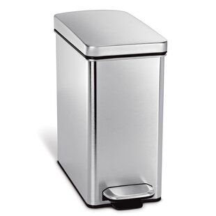 2.6 Gallon Profile Step Trash Can, Brushed Stainless Steel by simplehuman