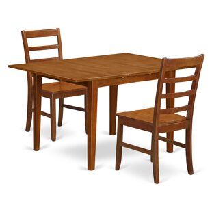 Lorelai 3 Piece Dining Set by Alcott Hill Cheap