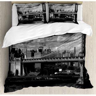 New York Duvet Set by Ambesonne