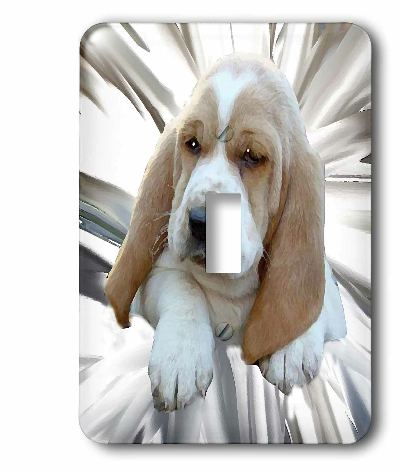 3drose Basset Hound Puppy 1 Gang Toggle Light Switch Wall Plate Wayfair