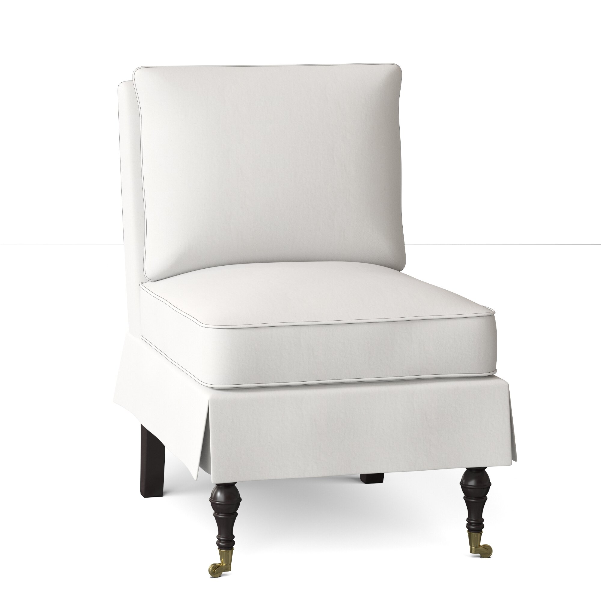 Picture of: Wayfair Custom Upholstery Dana 24 W Tufted Polyester Blend Down Cushion Slipper Chair Reviews