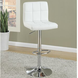 Adjustable Height Swivel Bar Stool (Set of 2) by Poundex