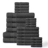 Aneysa 24 Piece 100% Cotton Towel Set