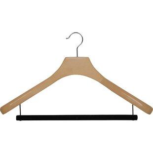 Buying Wooden Suit Non-Slip Hanger with Velvet Bar (Set of 6) By Rebrilliant