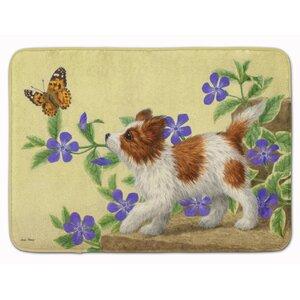 Papillon Pup Memory Foam Bath Rug