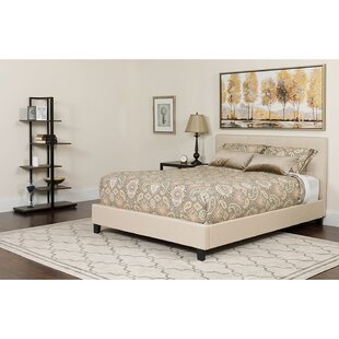 Pippa Upholstered Platform Bed with Mattress
