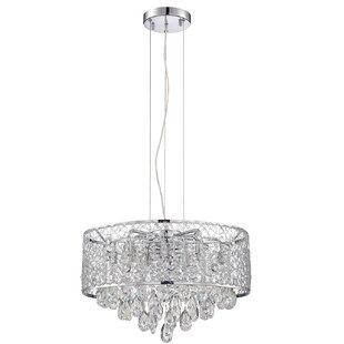 Orren Ellis Hoban 10-Light LED Crystal Chandelier