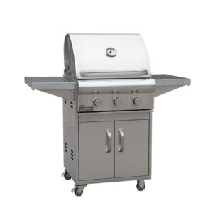 Ardor Cart 3-Burner Liquid Propane Gas Grill With Side Shelves By Landmann