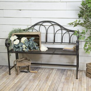 Highlawn Vintage Metal Garden Bench by August Grove