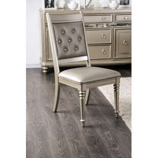 Barney Upholstered Dining Side Chair (Set of 2) by House of Hampton