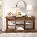 Summit 72 Wide 3 Drawer Poplar Wood Buffet Table by Kelly Clarkson Home