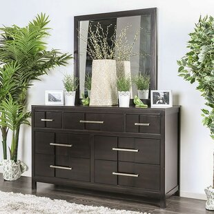 Find the perfect Midwest 7 Drawer Double Dresser with Mirror by Ivy Bronx