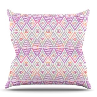 Soft Petal Tribal By Pom Graphic Design Outdoor Throw Pillow by East Urban Home