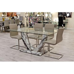 Deals Price Eunice Dining Set With 6 Chairs