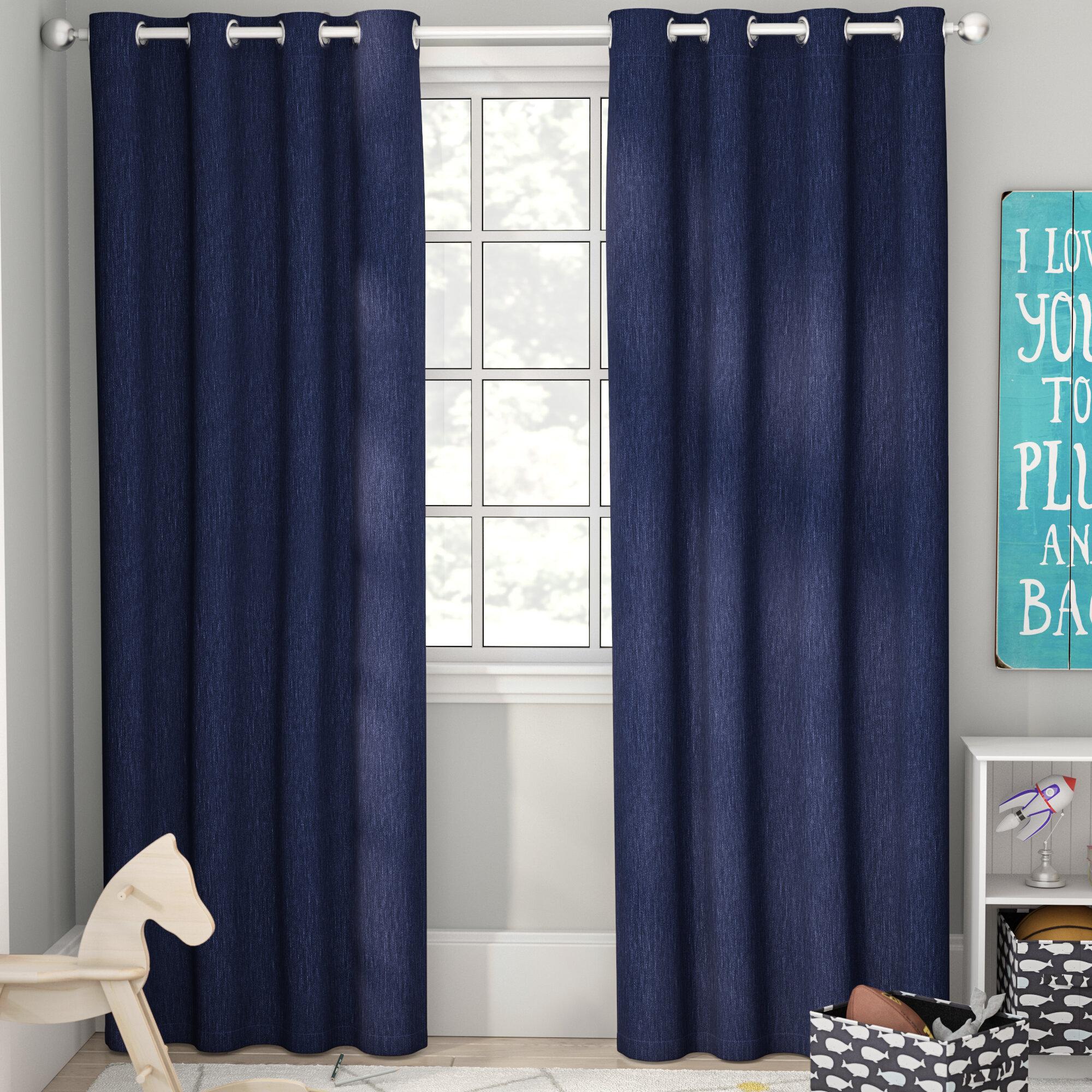 Viv + Rae Tamara Solid Blackout Thermal Grommet Curtain Panels ...