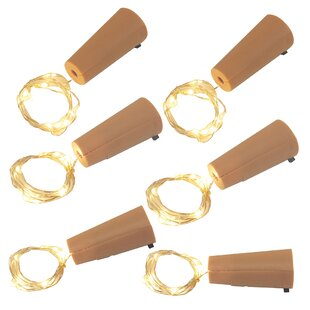 LumaBase Wine Cork Submersible 1.58 ft. 60-light Fairy String Lights (Set of 6)