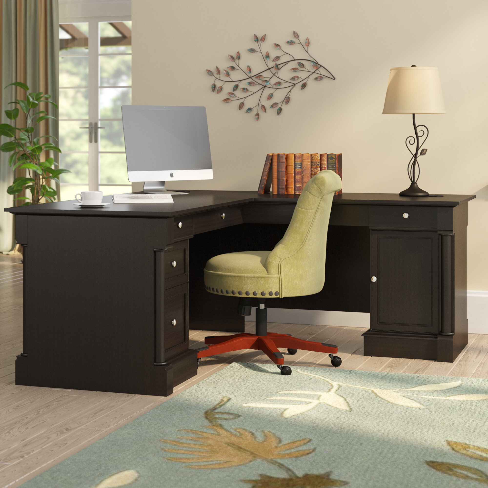 Three posts henley l shape executive desk reviews wayfair