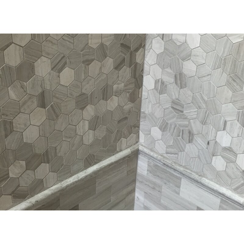 Cordelio Honeycomb 2 X 2 Marble Mosaic Tile In Wooden White