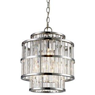 Read Reviews Beeston 3-Light Crystal Pendant By Mercer41