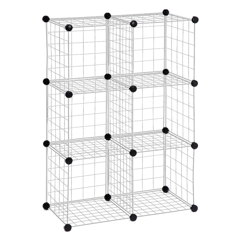 Exceptionnel Modular Mesh Storage Cube Shelving Unit