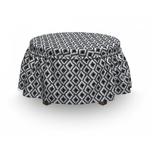 Rhombus and Zigzags Ottoman Slipcover (Set of 2) by East Urban Home