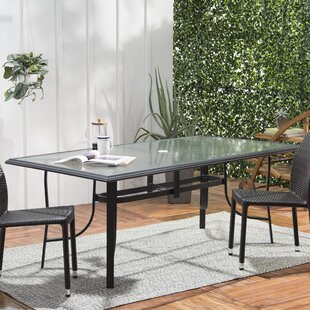 Ramon Glass Dining Table by Latitude Run