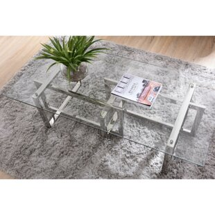 Coakley Metal and Glass Coffee Table